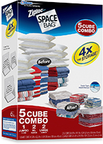 Ziploc Space Bag 5-piece Cube Combo Set