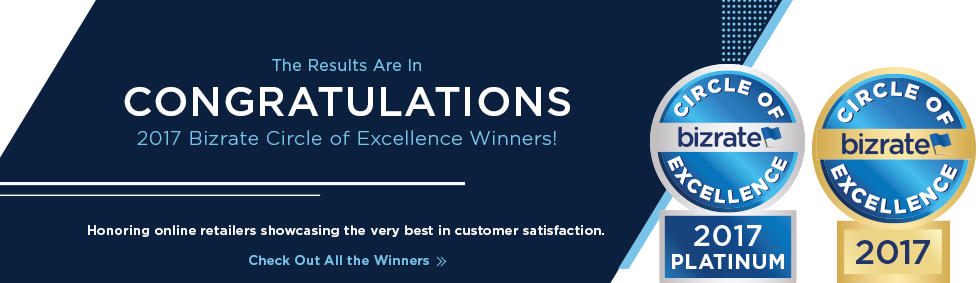 2017 Bizrate Circle of Excellence Winners!
